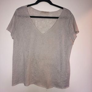 Urban Outfitters White Distressed Tee